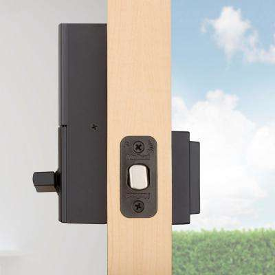 Kevo 2nd Gen Contemporary Square Matte Black Single Cylinder Touch-to-Open Bluetooth Smart Lock Deadbolt