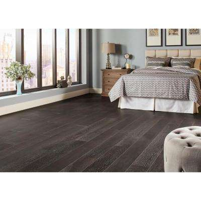 Wire Brushed Oak Lindwood 3/8 in. T x 7-1/2 in. Wide x Varying Length Click Lock Hardwood Flooring(30.92 sq. ft. / case)