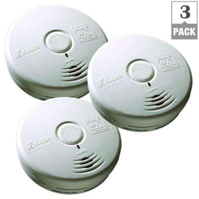 10-Year Worry Free Battery Operated Smoke Alarm (3-Pack)