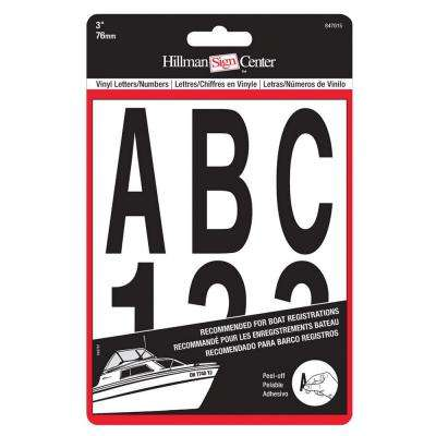 3 in. Black Die Cut Letters and Numbers Set