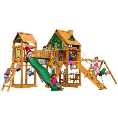 Pioneer Peak Treehouse with Fort Add-On and Amber Posts Cedar Playset