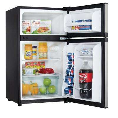 3.1 cu. ft. Mini Fridge in Stainless Look