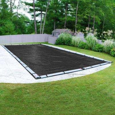 Rectangular Black Mesh Above Ground Winter Pool Cover