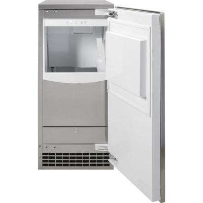 15 in. Built-In 65 lbs. Freestanding Ice Maker in Stainless Steel