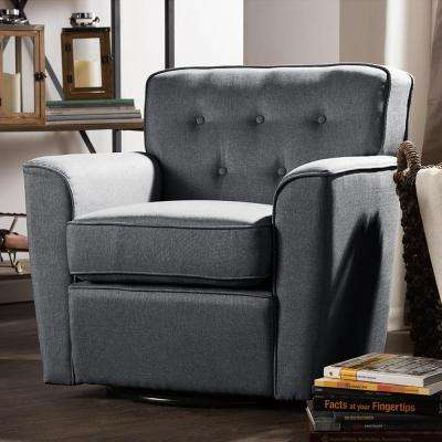 Canberra Contemporary Gray Fabric Upholstered Accent Chair