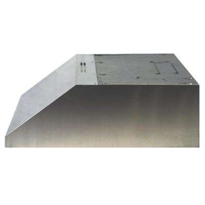 ENERGY STAR Certified 30 in. Under Cabinet Convertible Range Hood Deluxe Quiet Slimline with Light Stainless Steel
