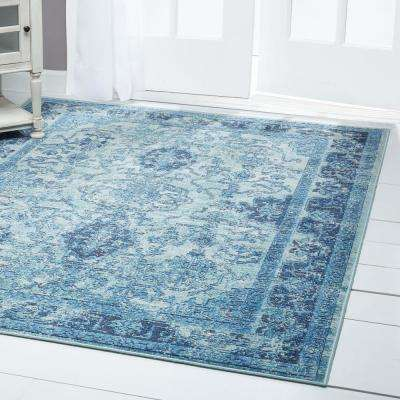 Patio Starlight Blue 7 ft. 10 in. x 10 ft. 2 in. Indoor/Outdoor Area Rug