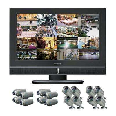 26 in. Wide-Screen TFT LCD All In One DVR System with 16 channels for 8 Indoor and 8 outdoor cameras-DISCONTINUED