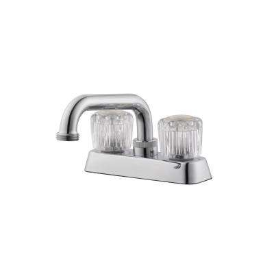 Ashland 2-Handle Utility Faucet in Polished Chrome
