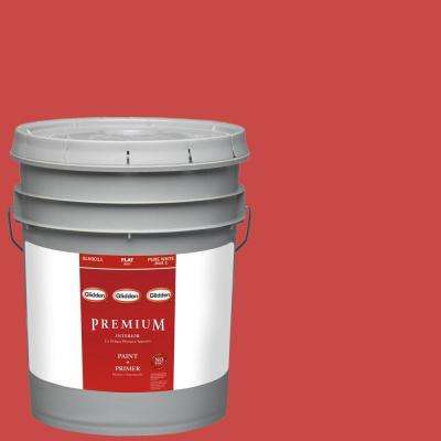 5-gal. #HDGR53U Old Glory Red Flat Latex Interior Paint with Primer