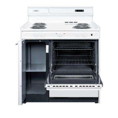 Electric Range In White 36 2 9 Cu Ft