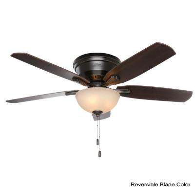 Princeton 52 in. Indoor Low Profile Basque Black Ceiling Fan