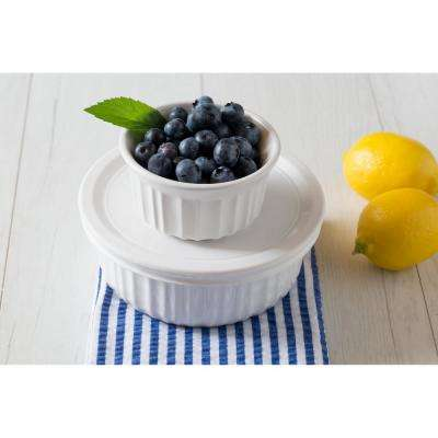 French White 10-Piece Ceramic Bakeware Set
