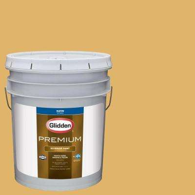 5-gal. #HDGY21D Gold Doubloon Satin Latex Exterior Paint