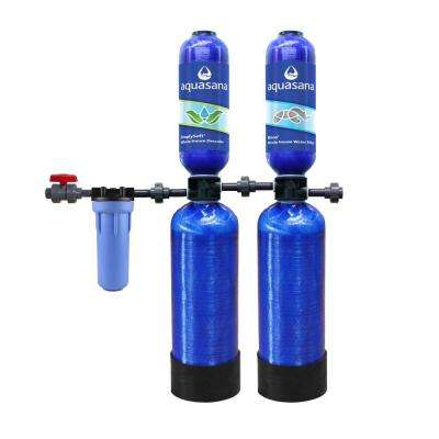 Rhino Series 5-Stage 600,000 Gal. Whole House Water Filtration System with Simply Soft Salt-Free Water Softener