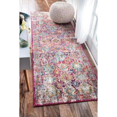 Persian Leilani Pink 3 ft. x 8 ft. Runner Rug