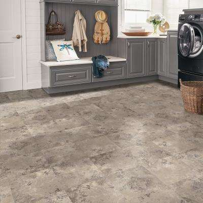 Cool Grey 12 in. Width x 12 in. Length x 0.1 in. Thick Peel and Stick Vinyl Tile