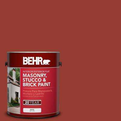 1 gal. #PPU2-17 Morocco Red Flat Interior/Exterior Masonry, Stucco and Brick Paint