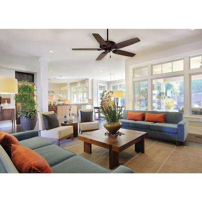 Concentra 54 in. Indoor Brushed Cocoa Bronze Ceiling Fan