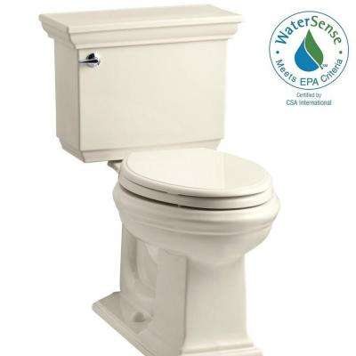 Memoirs Stately 2-piece 1.28 GPF Single Flush Elongated Toilet with AquaPiston Flush Technology in Almond
