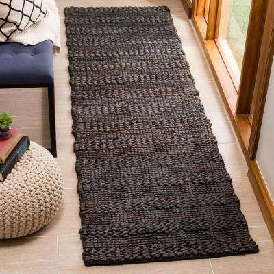 Natural Fiber Charcoal 2 ft. 3 in. x 8 ft. Indoor Runner Rug