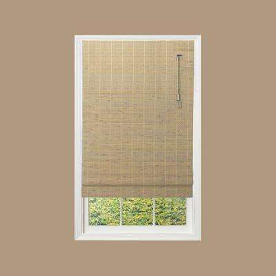 Beveled Reed Weave Roman Shade