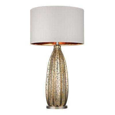 Pennistone 31 in. Polished Nickel Antique Gold Mercury Table Lamp