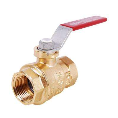 1-1/2 in. Brass Threaded FPT x FPT Full Port Ball Valve No Lead