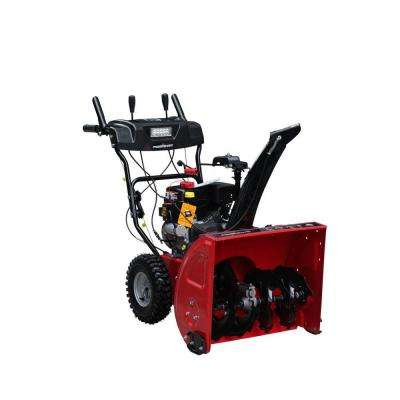 26 in. 208cc 2-Stage Electric Start Gas Snow Blower with Power Steering and Headlights