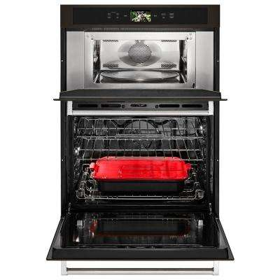 30 in. Electric Convection Wall Oven with Built-In Microwave and Powered Attachments in PRINTSHIELD Black Stainless