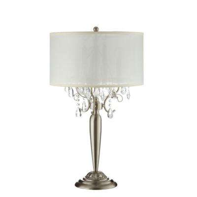 29.5 in. Chrome Crystal Table Lamp