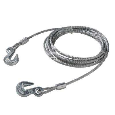 5/16 in. x 20 ft. Galvanized Wire Rope with Grab Hooks