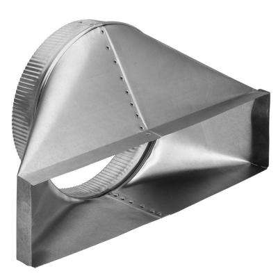 4-1/2 in. x 18-1/2 in. to 10 in. Round Galvanized Steel Thin Wall Duct Transition