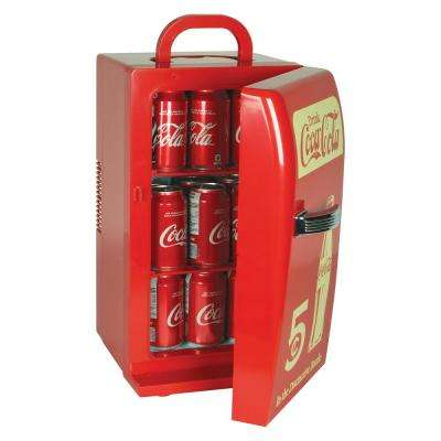 0.77 cu. ft. Retro Mini Fridge in Red