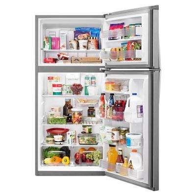 19.2 cu. ft. Top Freezer Refrigerator in Monochromatic Stainless Steel