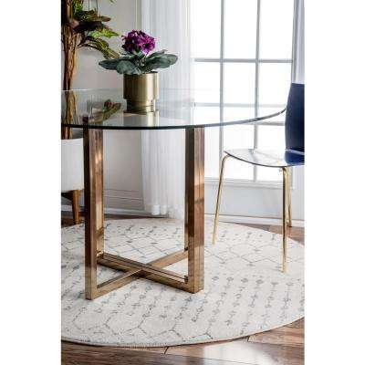 Blythe Grey 8 ft. x 8 ft. Round Area Rug