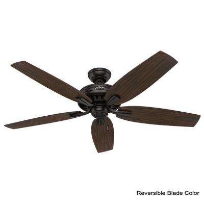 Newsome 56 in. Indoor Premier Bronze Bowl Light Kit Ceiling Fan
