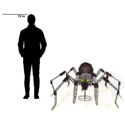 24 in. Warm White LED Animated Giant Spider
