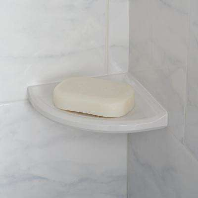 Restore 5 in. x 5 in. x 1 in. Resin Wall Mount Soap Dish in Bright White