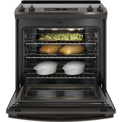 5.3 cu. ft. Slide-In Electric Range with Self-Cleaning Convection Oven in Black Stainless Steel, Fingerprint Resistant