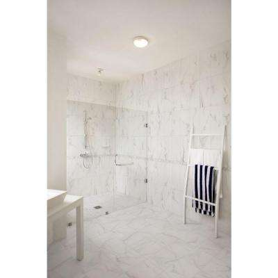 Michelangelo White 12 in. x 12 in. x 8mm Porcelain Mesh-Mounted Mosaic Floor and Wall Tile (10 sq. ft. / case)