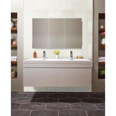 Retro Bianco Hexo 12.6 in. x 11.02 in. x 6mm Porcelain Mesh-Mounted Mosaic Tile (0.96 sq. ft.)