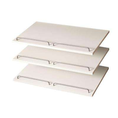 24 in. Classic White Shoe Shelf (3-Pack)