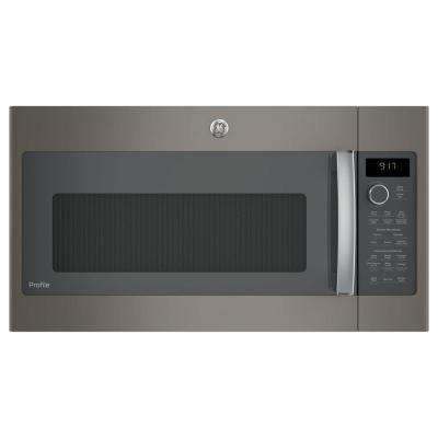 1.7 cu. ft. Convection Over-the-Range Microwave Oven in Slate