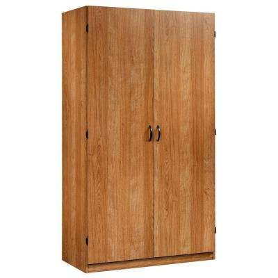 Beginnings Collection Particle Board Wardrobe Storage Cabinet in Highland Oak