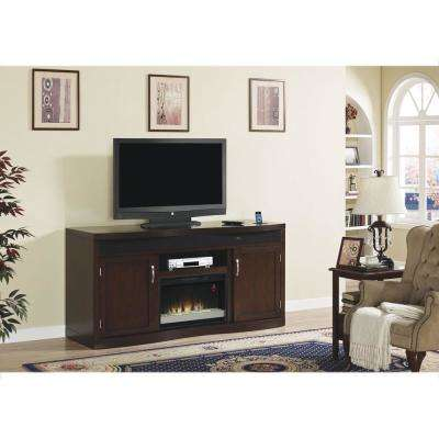 Endzone 73 in. Media Console Electric Fireplace in Espresso
