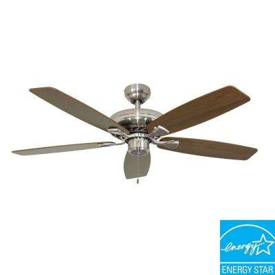 Charleston 52 in. Brushed Nickel Energy Star Ceiling Fan