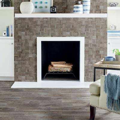 Shadow Wood Modern Weave 12 in. x 12 in. x 8mm Glazed Porcelain Mosaic Floor and Wall Tile (0.96 sq. ft. / piece)