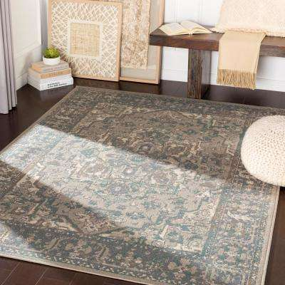 Eveline Charcoal 7 ft. 10 in. x 10 ft. 3 in. Oriental Area Rug