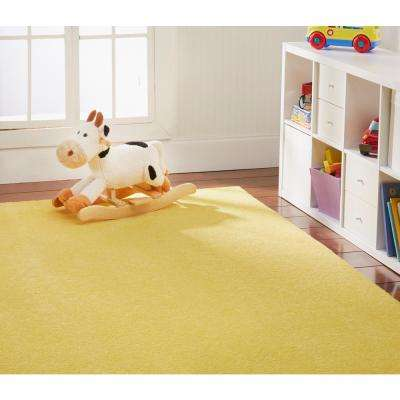 OurSpace Yellow 2 ft. x 6 ft. Bright Runner Rug